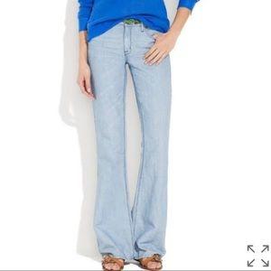 Madewell Flea Market Flare hi waist Cotton linen